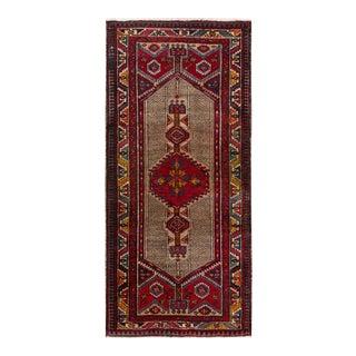 "Vintage Persian Serab Rug, 3'7"" x 7'5"""