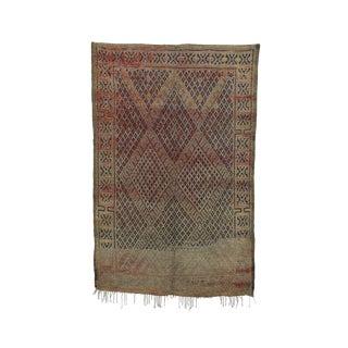 1970s Vintage Beni M'guild Moroccan Rug - 6′ × 9′1″ For Sale