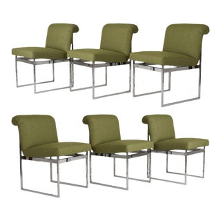 Mid Century Modern Milo Bughman Dining Chairs - Set of 6