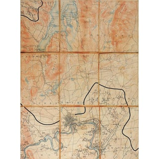 Glens Falls New York 1897 Us Geological Survey Folding Map For Sale