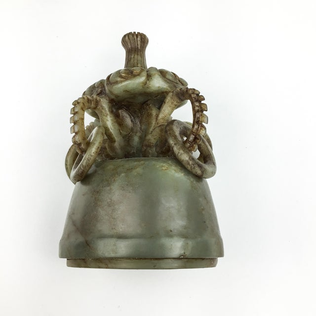 Magnificent Carved Chinese Soapstone Ritual Ewer For Sale - Image 9 of 12