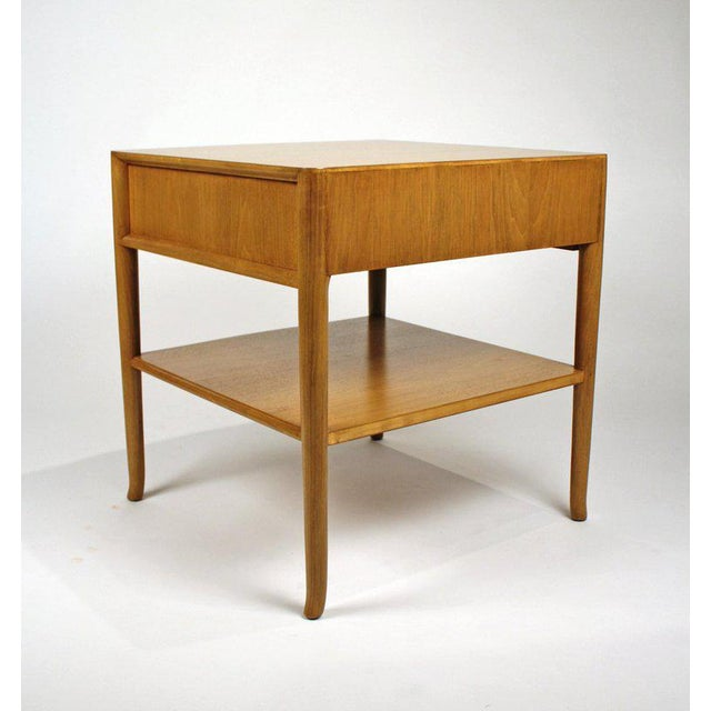 T.H. Robsjohn Gibbings for Widdicomb Bleached Walnut Nightstands - A Pair For Sale - Image 10 of 12