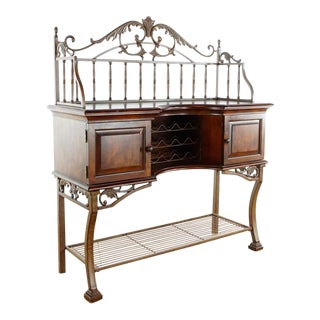 Weir's Furniture Wood and Metal Wine Buffet For Sale