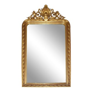 Louis Philippe Gilt Gesso & Wood Mirror For Sale