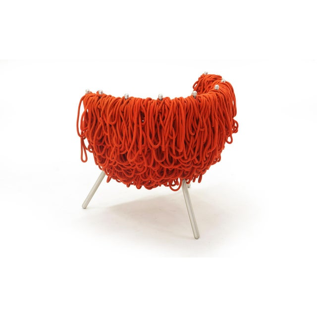 Metal Vermelha Chair by Fernando and Humberto Campana for Edra, Red Rope, Aluminum For Sale - Image 7 of 8