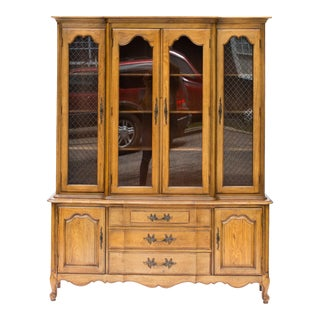 Vintage French Provincial China Cabinet From the Tableau Collection by Thomasville Furniture For Sale
