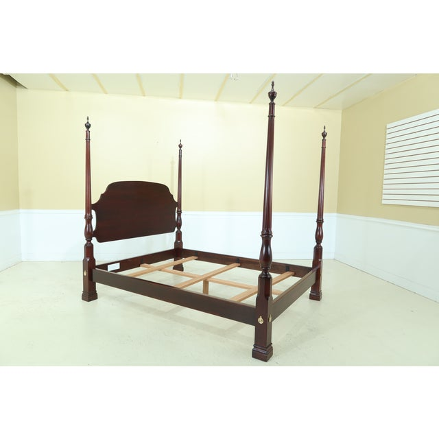 Stickley Queen Size Cherry High Back Poster Bed For Sale - Image 9 of 12