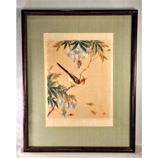Asian Bird in Flowering Tree - Image 2 of 5