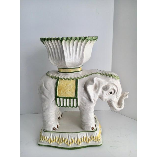 Ceramic Italian Ceramic Elephant Cachepot Planter For Sale - Image 7 of 7