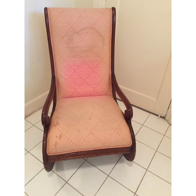 Antique Upholstered Rocking Chair - Image 2 of 4