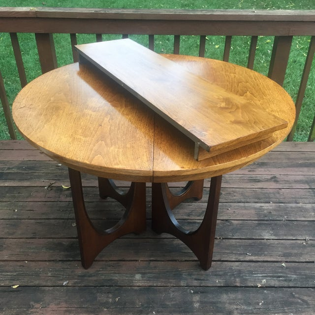 Broyhill Brasilia Broyhill Brasilia Dining Table with One Leaf For Sale - Image 4 of 11