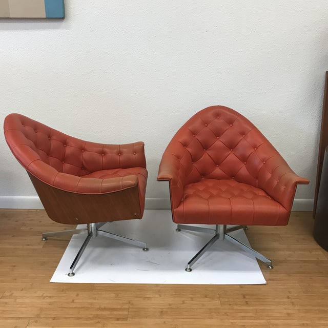 4320 Chairs by M Baughman for Thayer Coggin - a Pair - Image 2 of 11