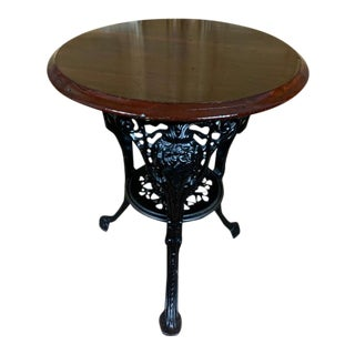 19th Century Antique English Cast Iron Pub Table For Sale