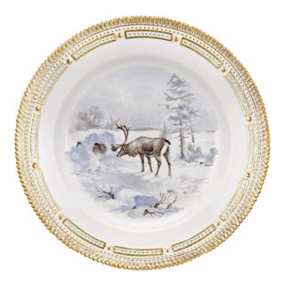Flora Danica Reindeer Dinner Plate For Sale