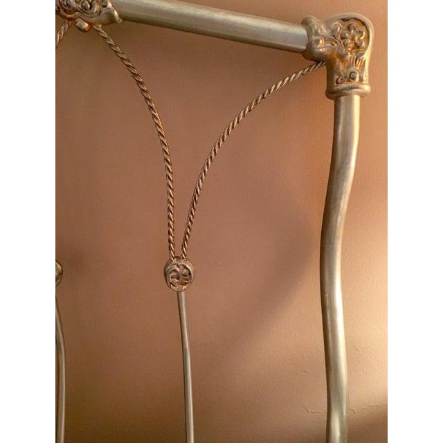 Regency Style Wrought Iron Queen Headboard - Image 4 of 5