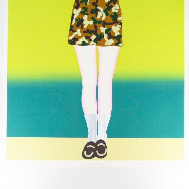 "Modern 1980s ""War Baby"" Signed Numbered Serigraph Silkscreen Print by Kiki Kogelnik For Sale - Image 3 of 9"