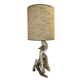 Mid-Century Driftwood Table Lamp