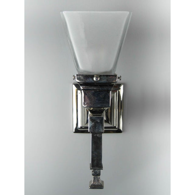 Arts & Crafts Mission Wall Sconce (Long Tail) For Sale - Image 4 of 4