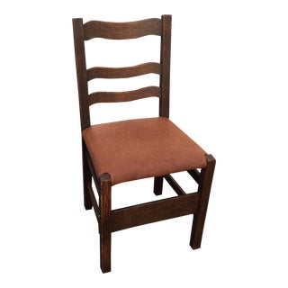 Mission Oak Arts & Crafts Side Chair For Sale