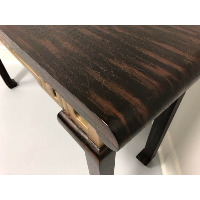 Vintage Baker Asian Inspired Sofa Table Console For Sale In Charlotte - Image 6 of 12