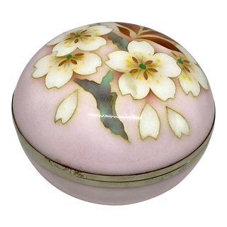 C. 1950 Ando Japanese Cloisonne Jewelry Box For Sale