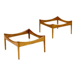 1960s Vintage Kristian Vedel for Soren Willadsen Danish Modern Modus Coffee Tables - A Pair For Sale