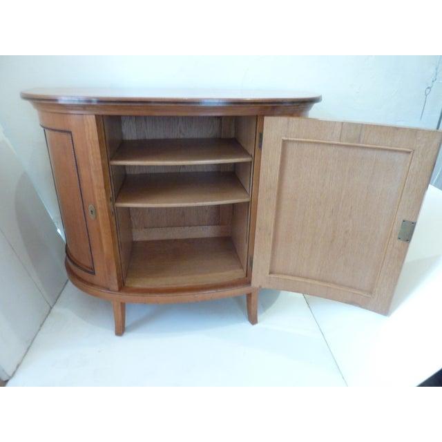 Wood Biedermeier Style Demi-Lune Buffet For Sale - Image 7 of 10