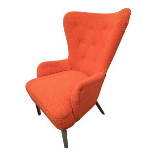 Mid-Century Modern Wingback Chair For Sale