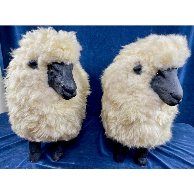 Late 20th Century Lalanne Style Sheep Footstools - a Pair For Sale - Image 11 of 11