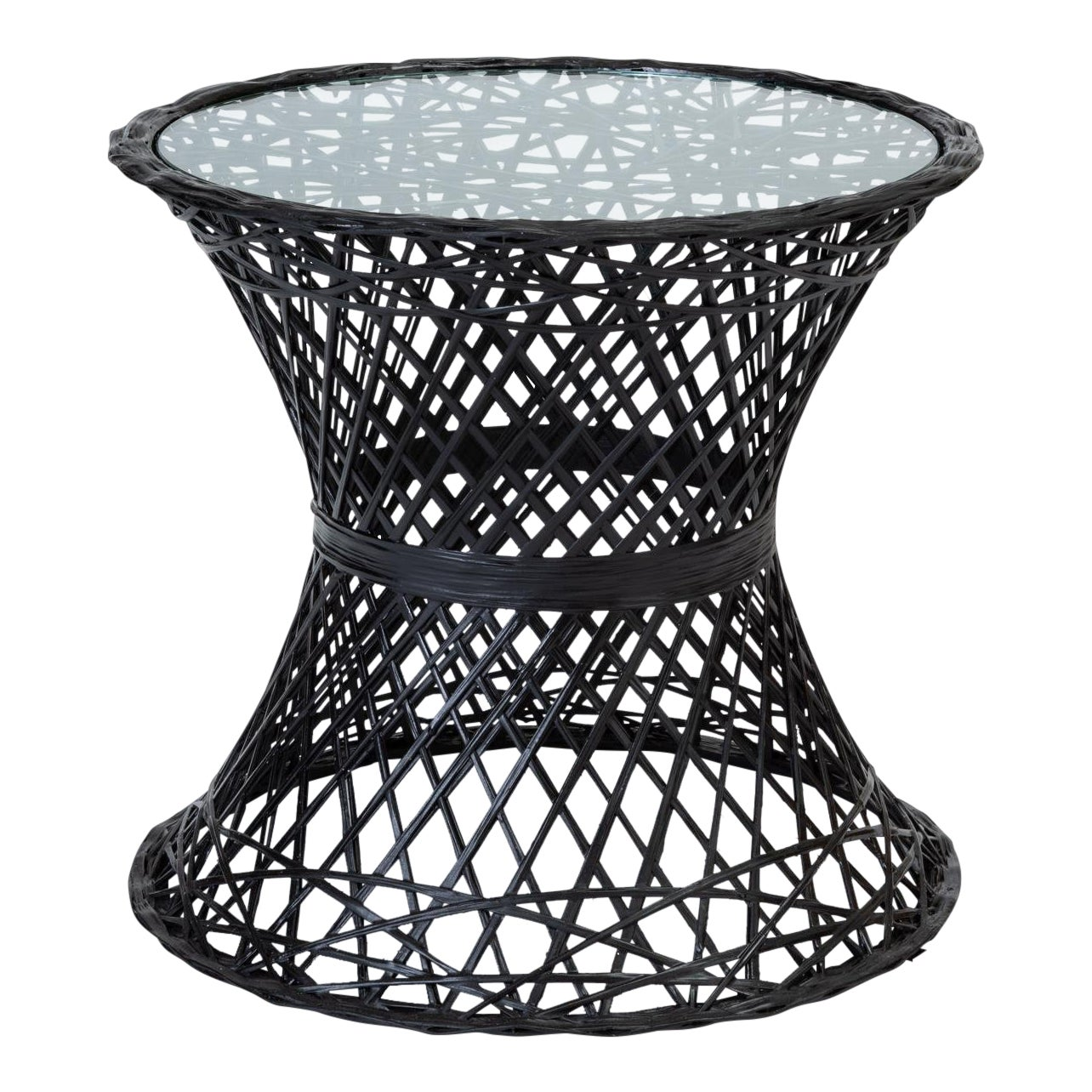 Single Spun Fiberglass Patio Side Table By Woodard Furniture
