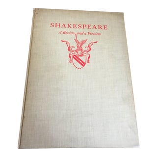 """Shakespeare: A Review and a Preview"" Vintage Book For Sale"