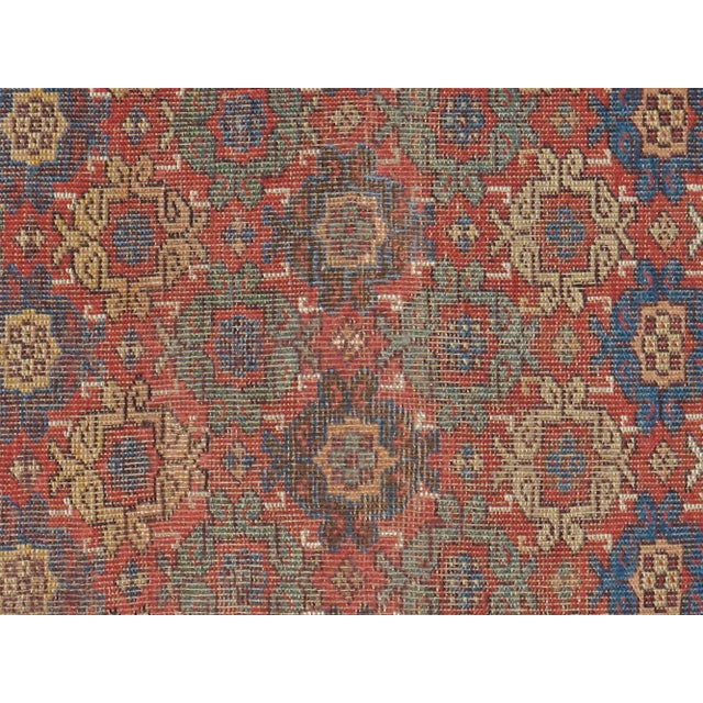 """Antique Persian Distressed Rug - 3'10"""" X 6'6"""" - Image 2 of 4"""