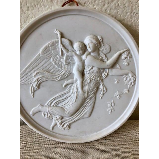 Bing & Grondahl Vintage Bing & Grøndahl Porcelain Angel Wall Plaques - a Pair For Sale - Image 4 of 9