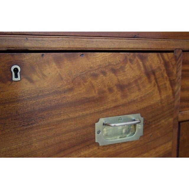 Late 19th Century Antique British Officers Campaign Chest For Sale In Charleston - Image 6 of 8