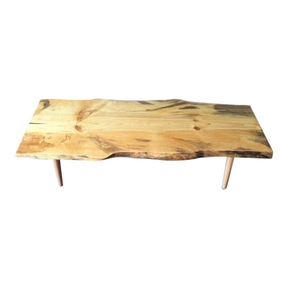 Live Edge Northern California Pine Coffee Table For Sale