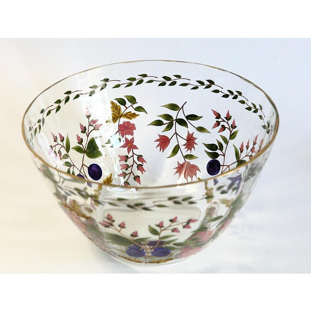 Vintage Hand Painted Glass Bowl - Image 8 of 8