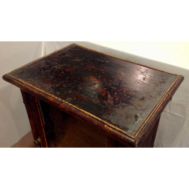 Wood 19th Century English Bamboo Cabinet For Sale - Image 7 of 13