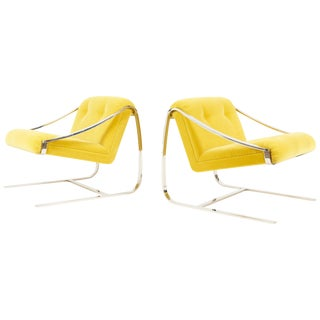 """Charles Gibilterra """"Plaza"""" Lounge Chairs for Brueton For Sale"""