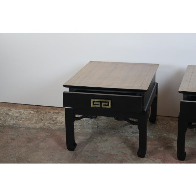 1970s Asian Style End Tables - a Pair For Sale In Los Angeles - Image 6 of 9