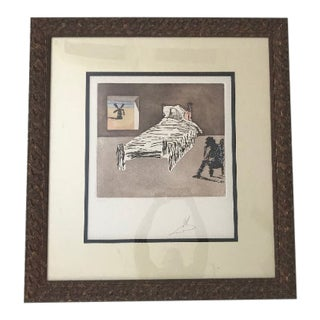 Salvador Dali Signed the Legacy, Quixote the Impossible Dream Suite Etching Aquatint With Hand Coloring, Pencil Signed by the Artist For Sale