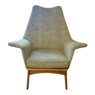1960s Mid-Century Modern Adrian Pearsall Wingback Chair For Sale