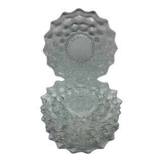 American Clear Fostoria Bread and Butter Plates - Set of 8 For Sale