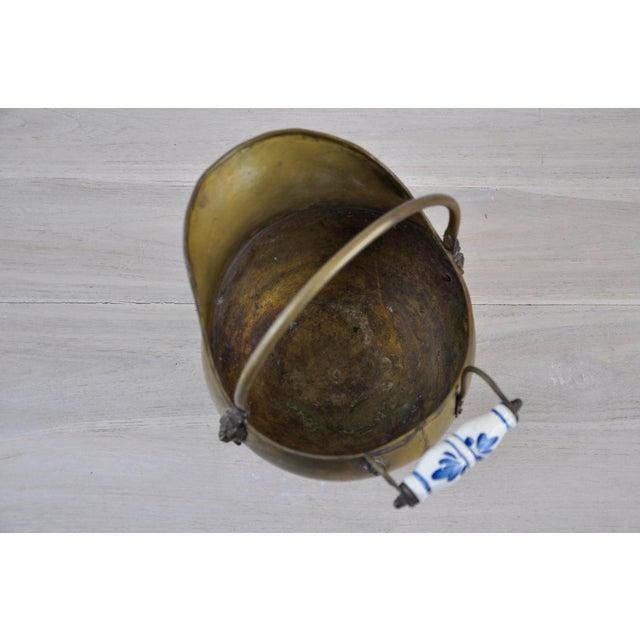 Vintage Brass Helmet Coal Scuttle For Sale - Image 9 of 11