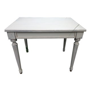 1950s Shabby Chic Accent Tables With Drawers For Sale
