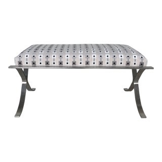 Modern Cross Base Heavy Stainless Bench For Sale