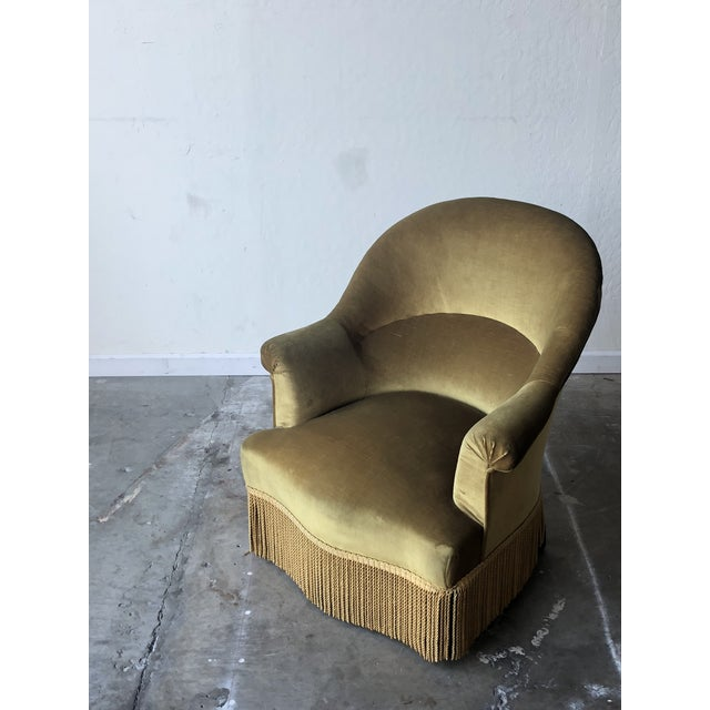 Velvet Crapaud Chair For Sale In San Francisco - Image 6 of 7
