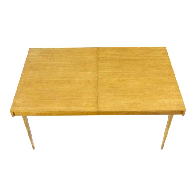 Mid-Century Modern Edmond J. Spence Swedish Blond Birch Dining Table W/ Two Extension Leafs For Sale - Image 3 of 11