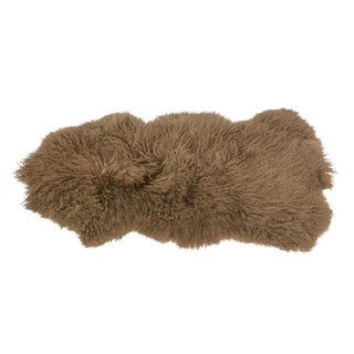 Mongolian Beige Fur Throw For Sale