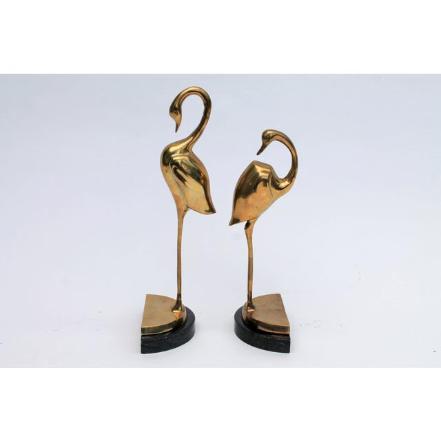 Brass Flamingo Bookends- A Pair - Image 5 of 6