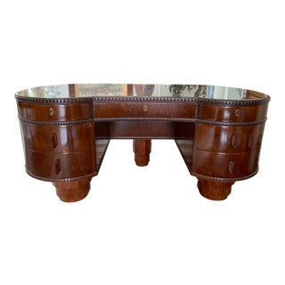 Early 20th Century French Art Deco Mahogany Desk For Sale